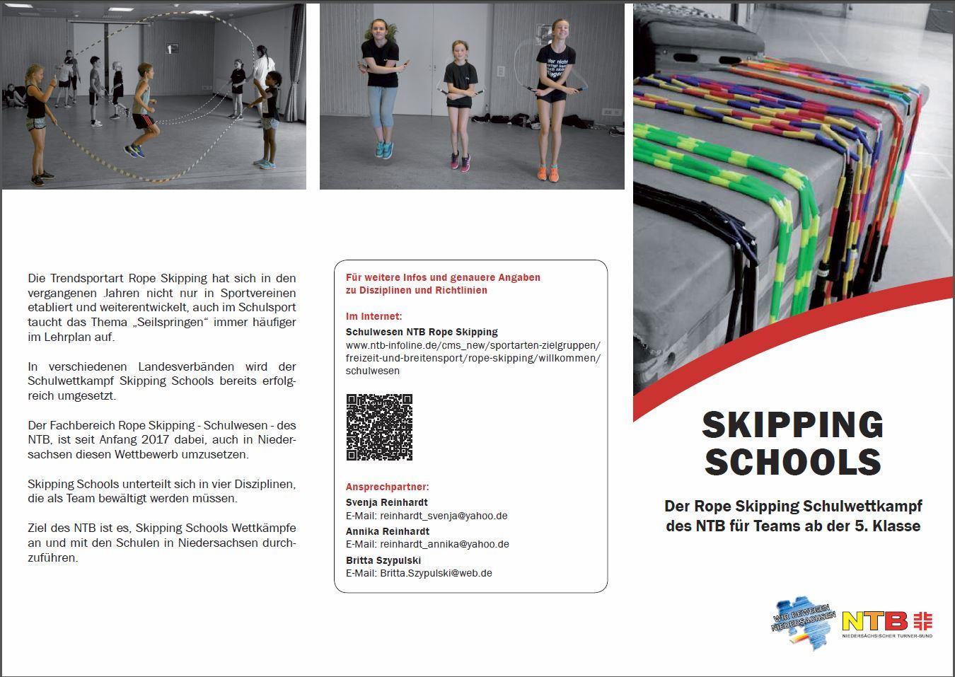 Skipping Schools - Niedersächsischer Turner-Bund (NTB)